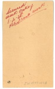 Image: Ration Card Reverse Side