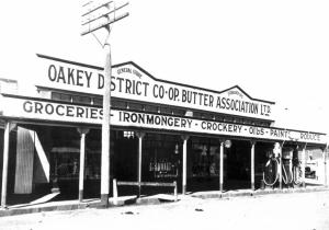 Image: Oakey District Co-op Butter Association Ltd. General Store c.1935 Source: Department of Defence