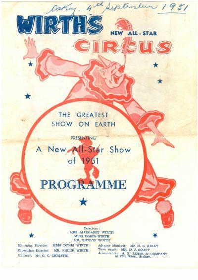 Image: 1951 Programme Source: Beryl Vohland