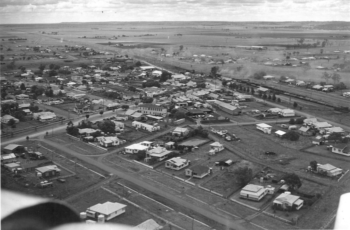Image: Aerial View of Oakey Source: Oakey Friends of the Library