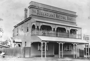 Image: Qld. National Bank c.1912 Source: State Library Queensland