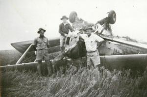 Image: Plane crashed while spraying grubs 1957 Source: M. Ferguson