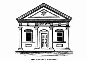 Image: Toowoomba Synagogue Drawing Source: www.trove.nla.gov.au