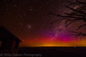 Image: Aurora Australis from mt buffalo national park Source: Philip Dubbin